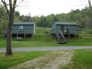 Cabin 2 and 3 both sleep 4.